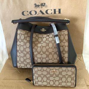 Coach Small Lexy Shoulder Bag & Wallet Set